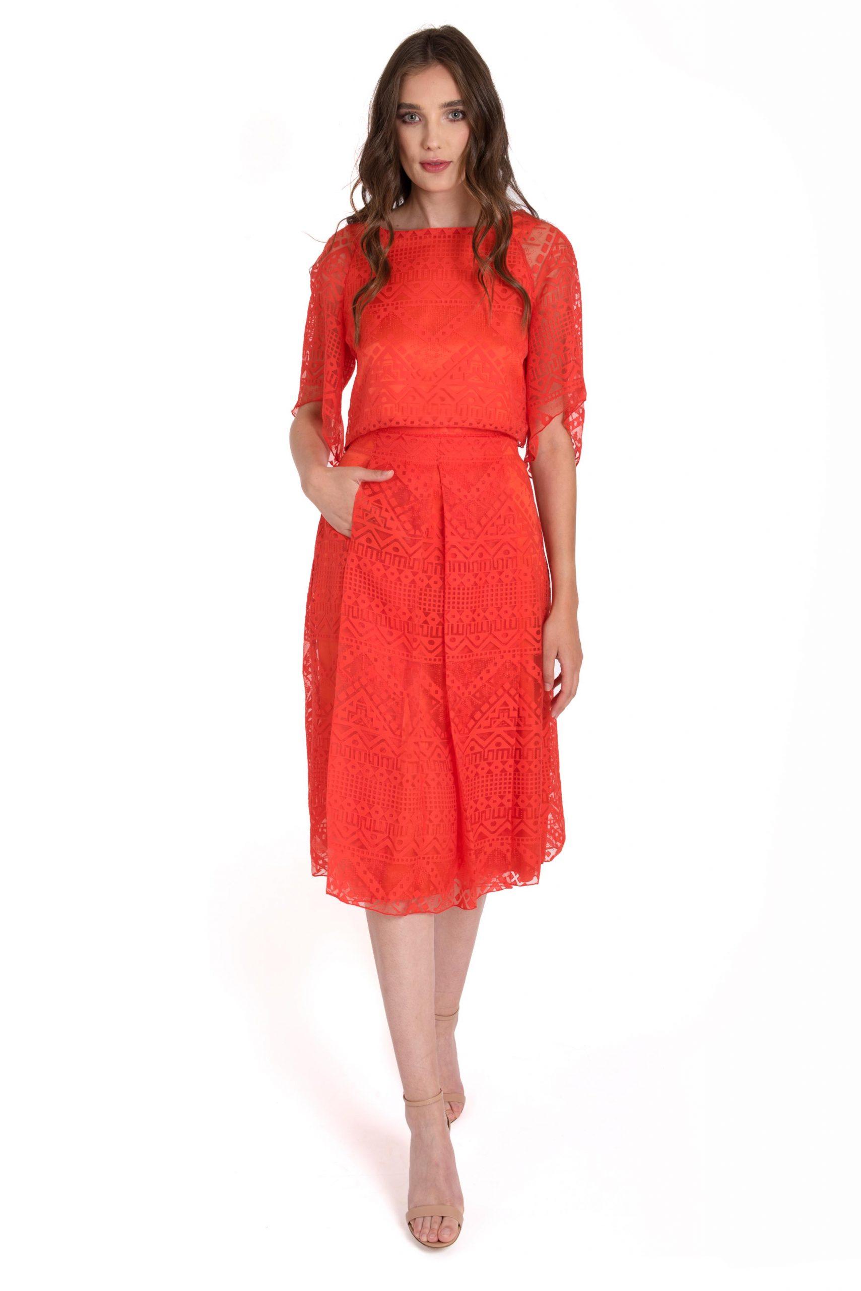 Viscose printed skirt - Viscose printed top