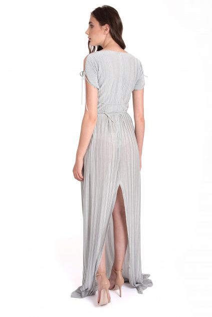 Izabela Mandoiu - Silver pleated dress