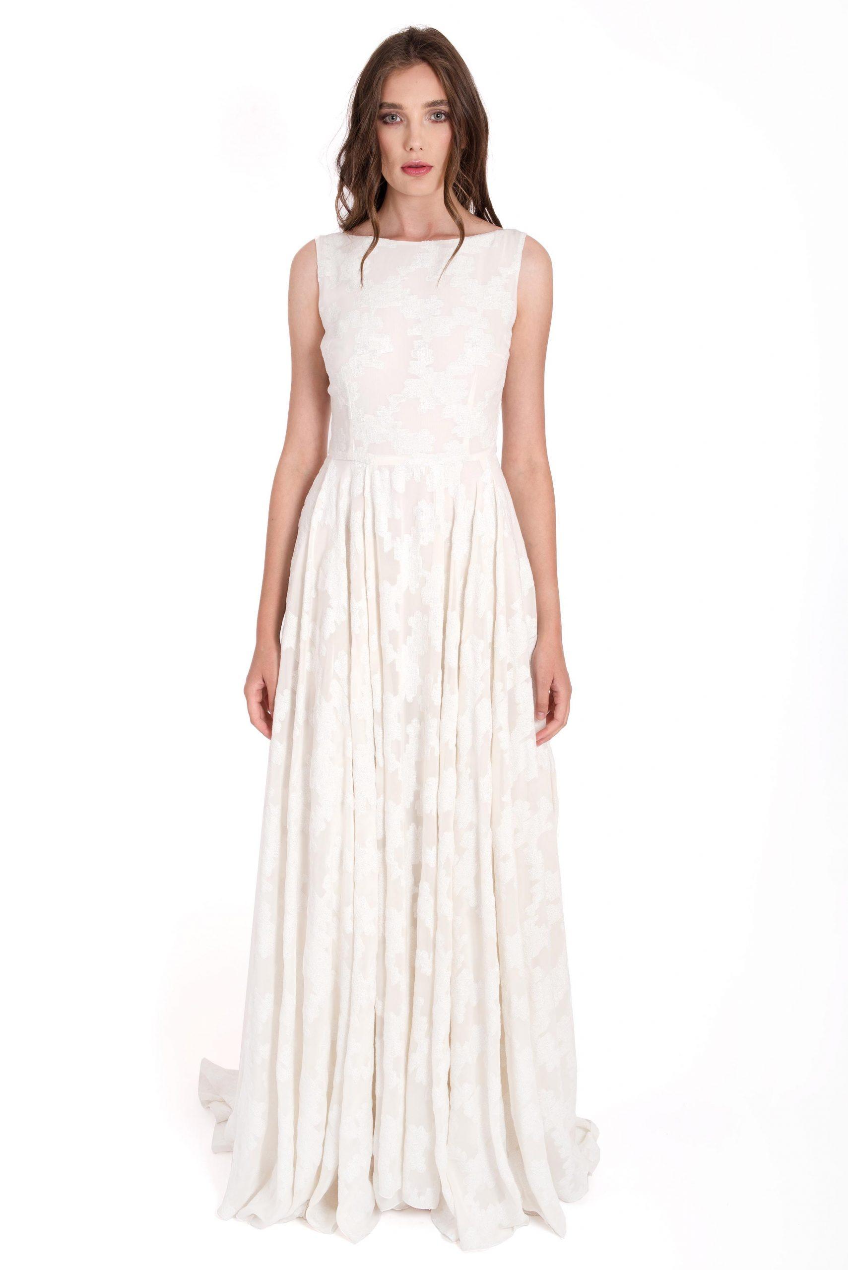 Silk white dress - Izabela Mandoiu