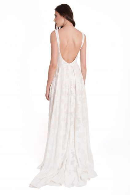 Izabela Mandoiu - Silk white dress