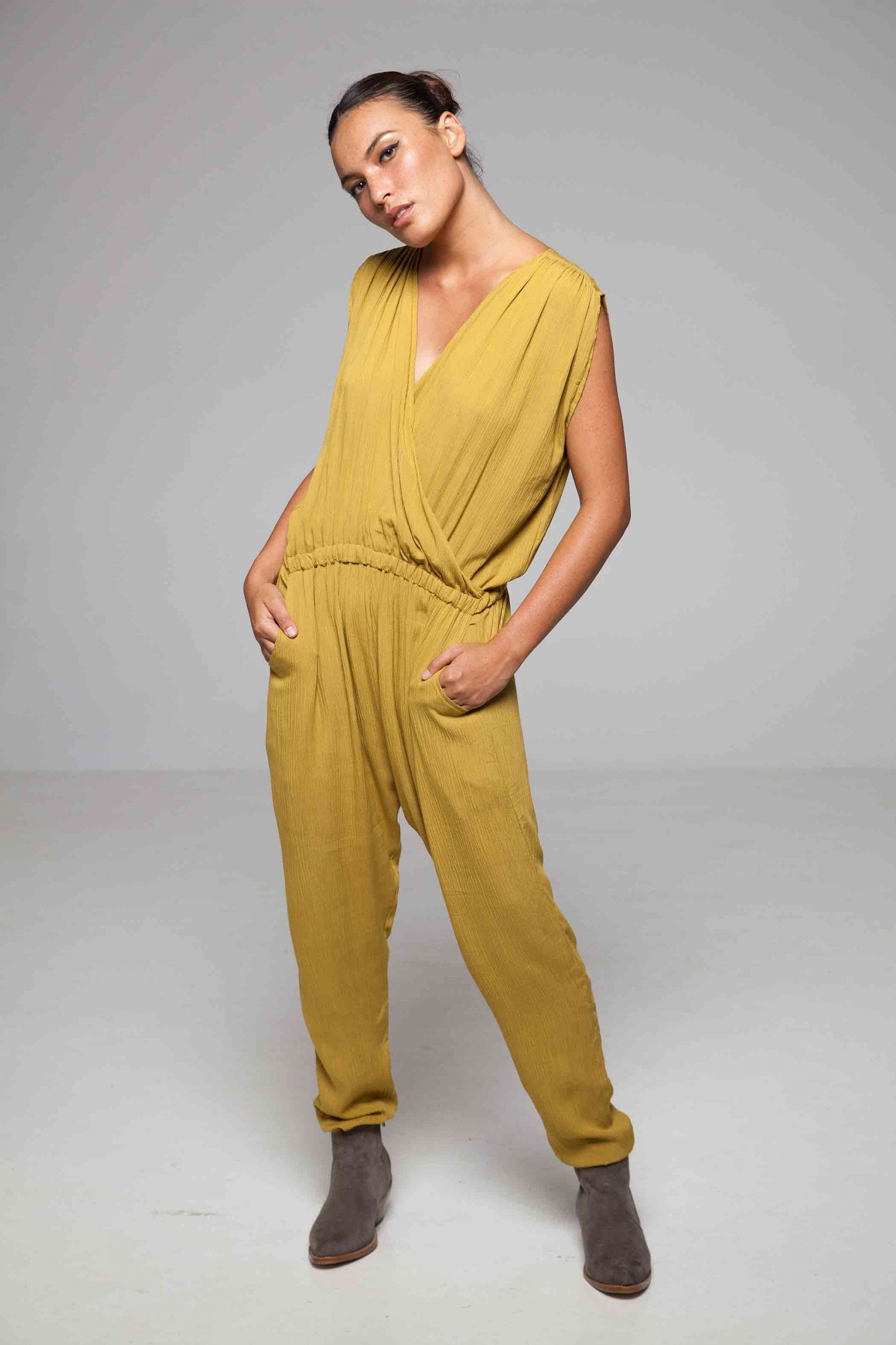 be8e45abe55a Jumpsuit Pamela Yellow Woman - Designer Fashion For Every Style