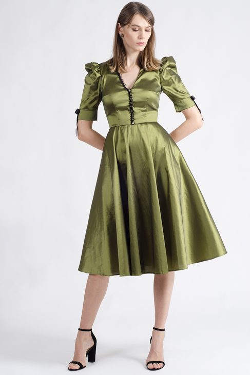 giselle olive circle cocktail dress