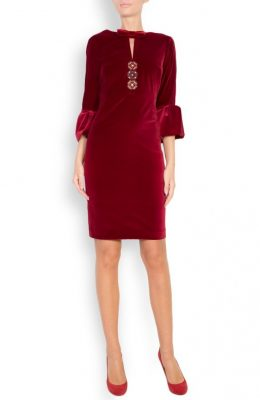 cocktail red velvet dress stylezza