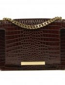 mini_lauren_brown croco leather bag