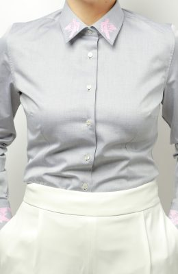gray dove shirt business look