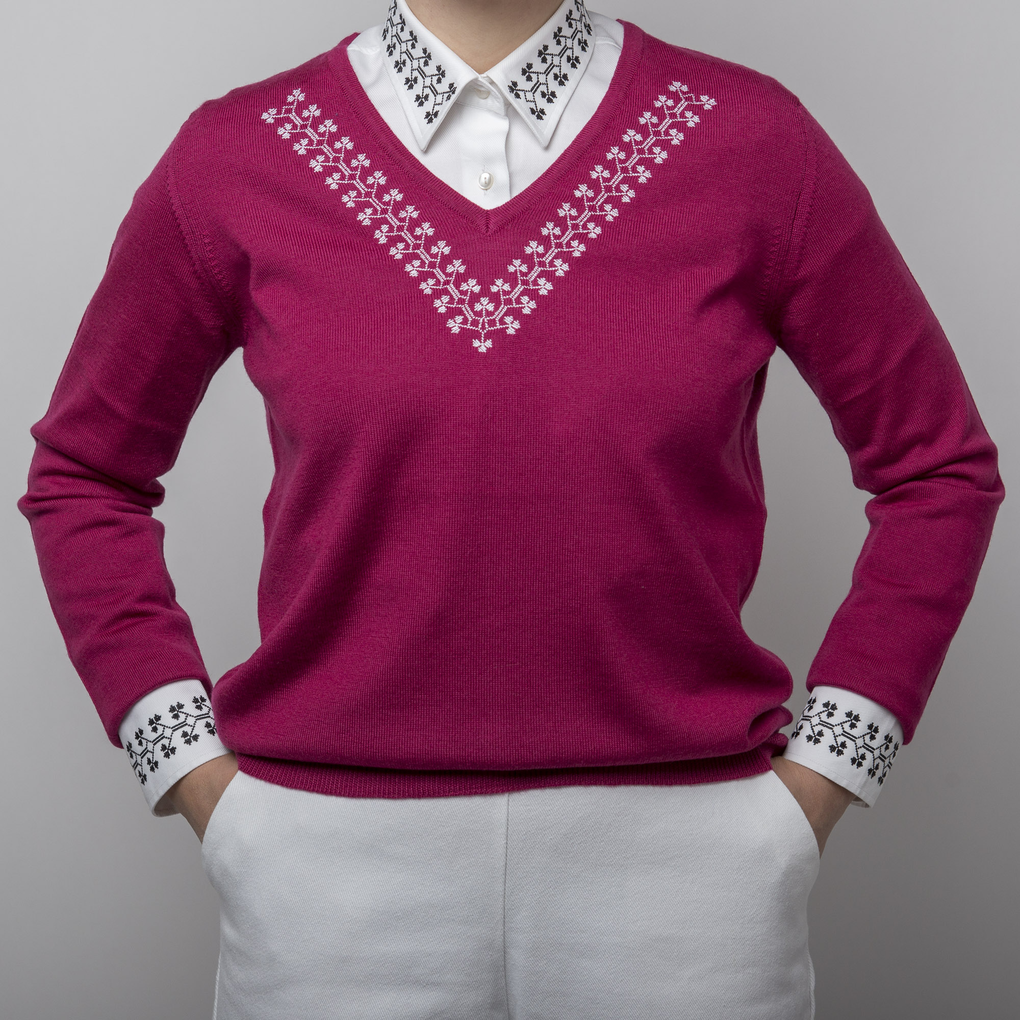 bordeaux knitwear sweater