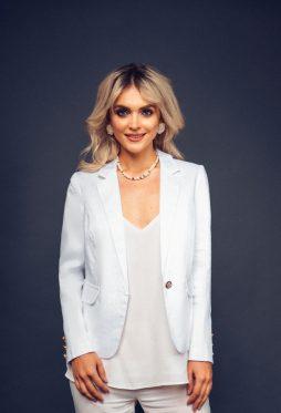 Acob white linen jacket
