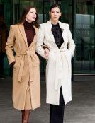 wool coats brown white