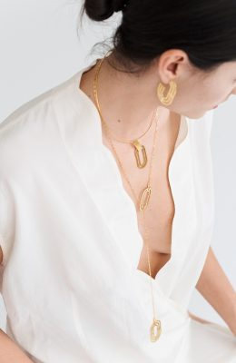 troia gold silver necklace