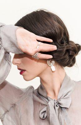 jewelry circle earrings silver